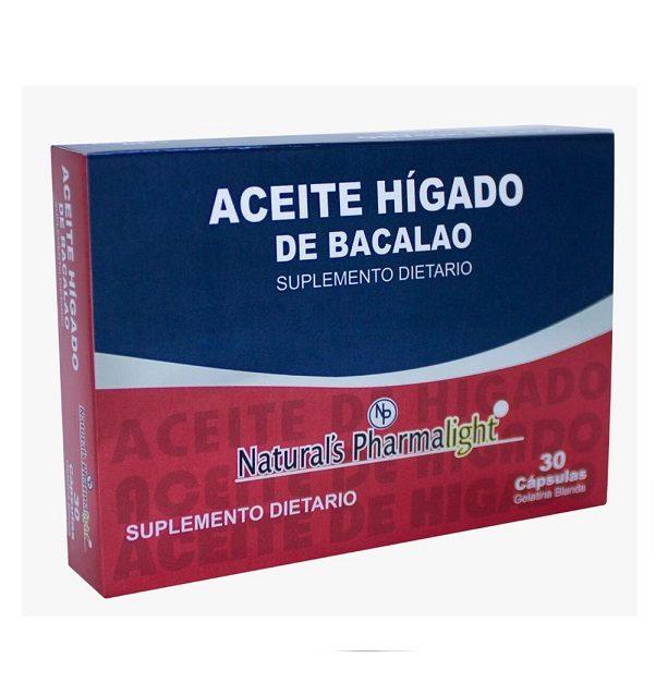 Aceite Higado De Bacalao Americano Original X 30 Capsulas